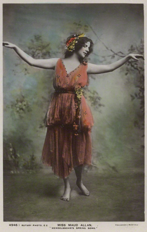 NPG Ax160221; Maud Allan dancing Mendelssohn's Spring Songs by Foulsham & Banfield, printed by  Rotary Photographic Co Ltd