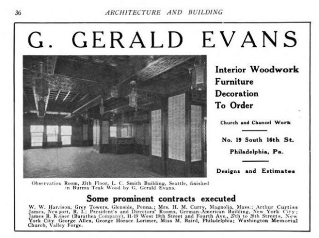 Chinese Room Evans Ad 1914