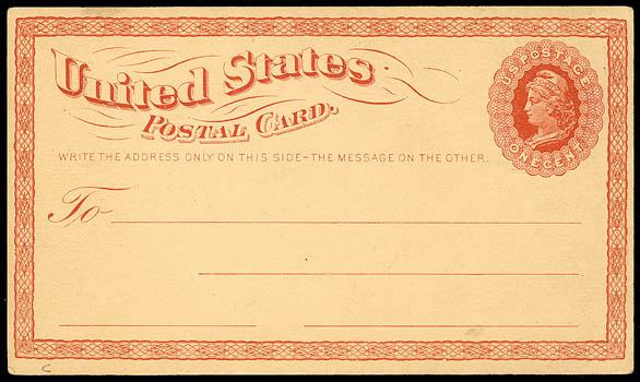 First Postal Card